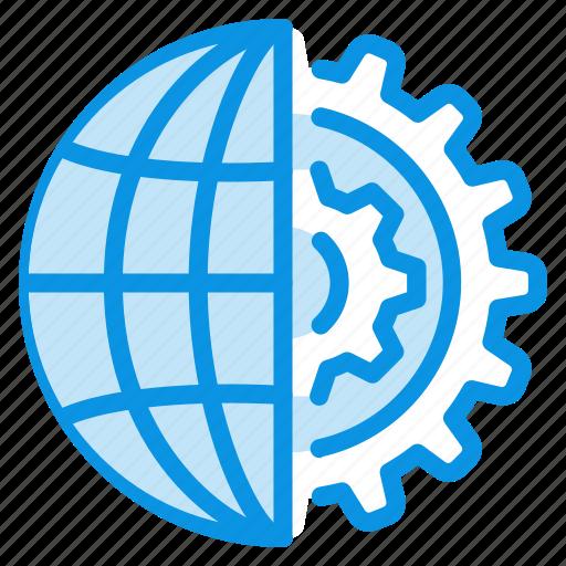 Internet, gear, globe icon - Download on Iconfinder