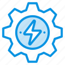energy, gear, generation icon