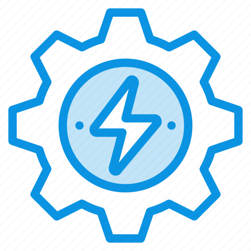 energy, gear, generation icon
