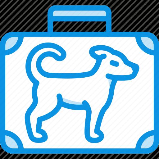 baggage, dog, flight, luggage, trip icon