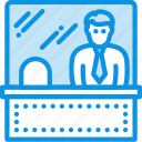 manager, ticket, window icon