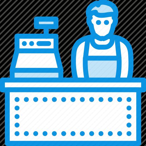cashier, seller, shop icon