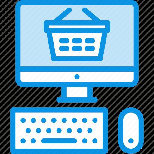 ecommerce, pc, shop icon