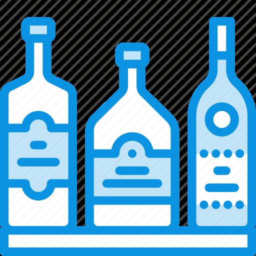 bottles, duty free, whiskey icon