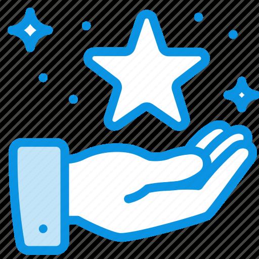 hand, magic, star icon