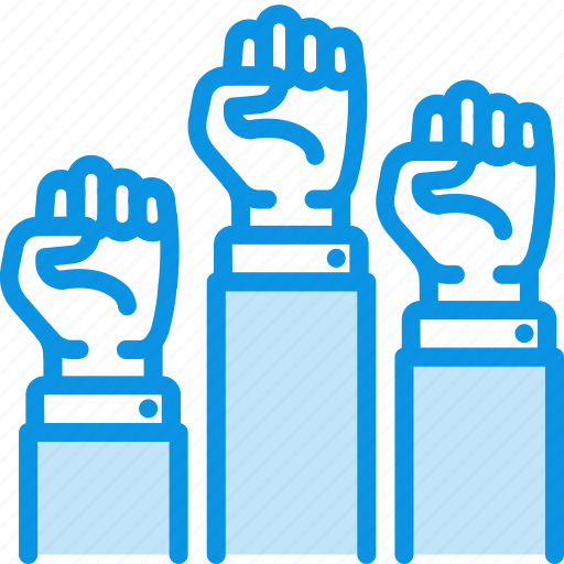 fist, freedom, hands icon