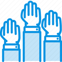 hands, palm, vote icon
