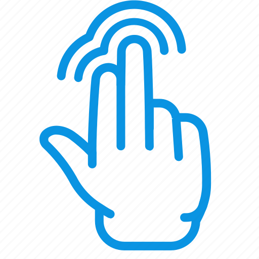double, gesture, touch icon