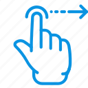 finger, gesture, hand, one, right, swipe icon
