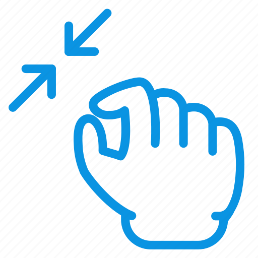 gesture, hand, squeeze icon