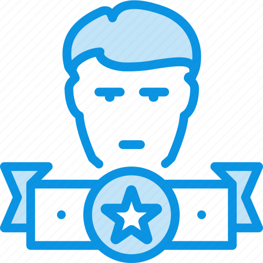 leader, man, winner icon