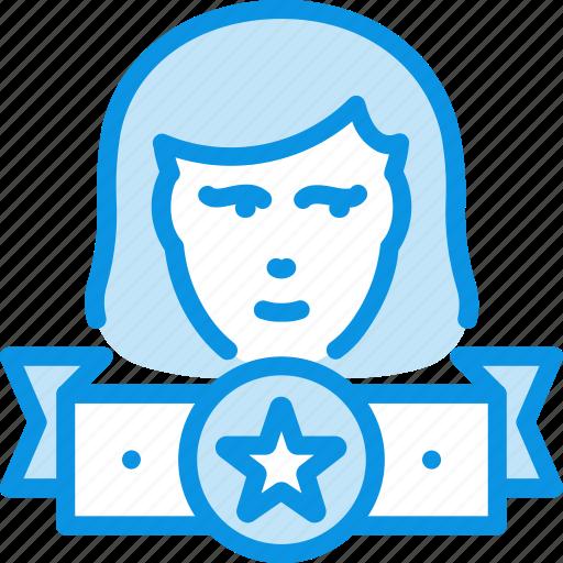 leader, winner, woman icon