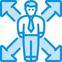 client, direction, employee, growth, man, opportunity, user icon