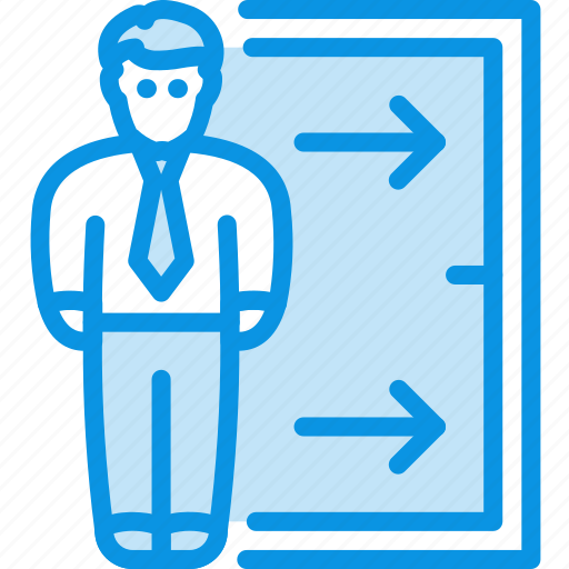 employee, exit, fired icon