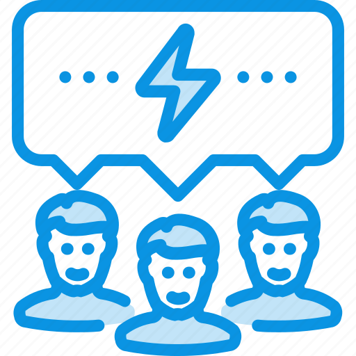 brain storm, communication, team icon