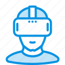 helmet, person, vr icon