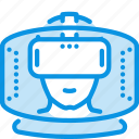 helmet, reality, virtual icon