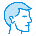 face, head, male, man, mind, profile, user icon