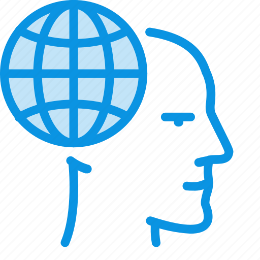 face, global, head icon