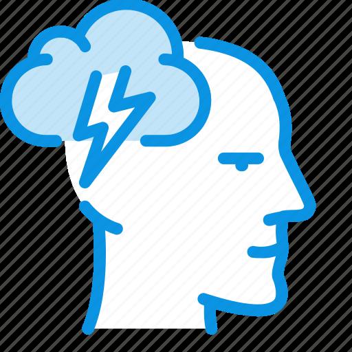 brain storm, head, idea icon