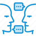 chat, conversation, discussion, negotiations, people, talk, team icon