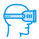 head, helmet, virtual icon