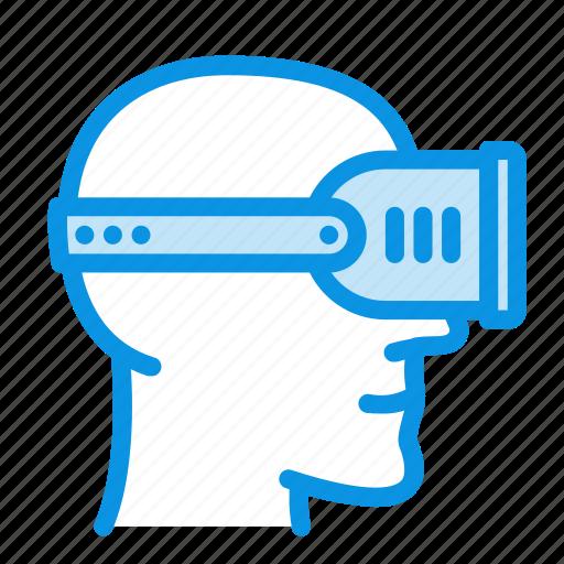 head, helmet, virtual icon