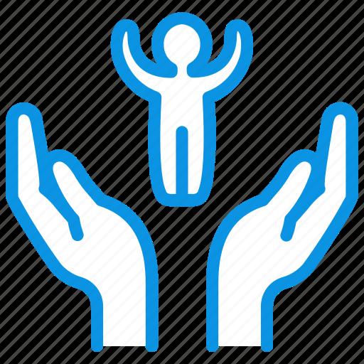 care, child, hands icon