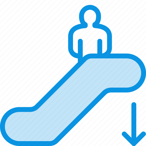 Down, escalator, staircase icon - Download on Iconfinder