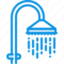 bath, interior, shower, water icon