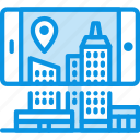 augmented, city, mobile icon