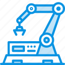 factory, line, mechanics, production, robot icon