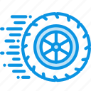 motion, ride, wheel icon