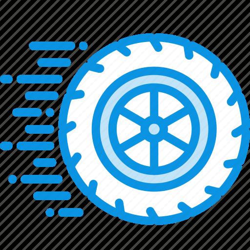 motion, ride, wheel icon