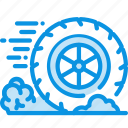 friction, motion, wheel icon