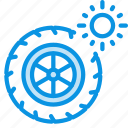 summer, tires, wheel icon