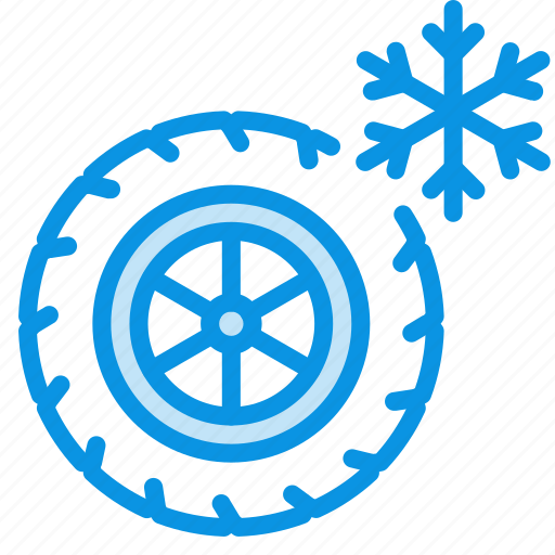 tires, wheel, winter icon