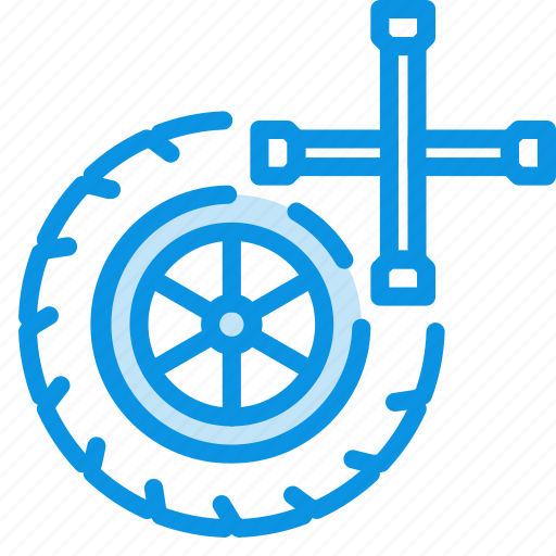 car, service, wheel icon
