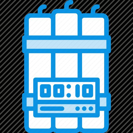 bomb, dynamite, timer icon