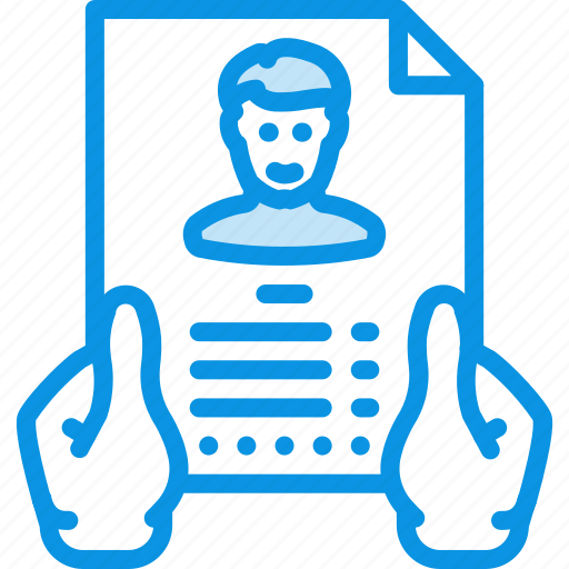 Hands, profile, resume icon - Download on Iconfinder