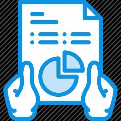 analytics, hands, report icon