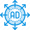 ad, marketing, strategy icon