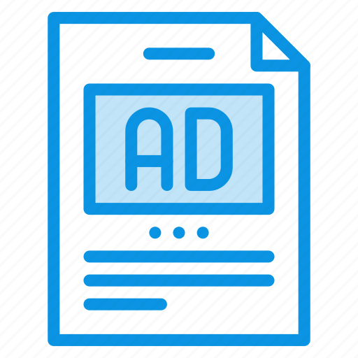 ad, article, post icon