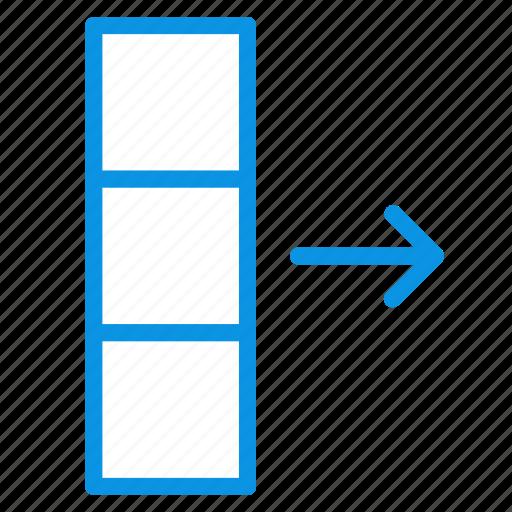 column, data, export icon