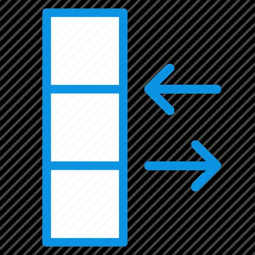 column, data, exchange icon