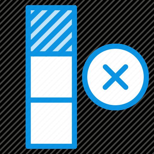 cell, remove, row icon