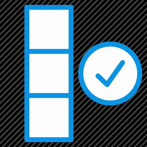 check, complete, data icon