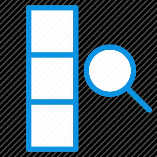 column, data, search icon