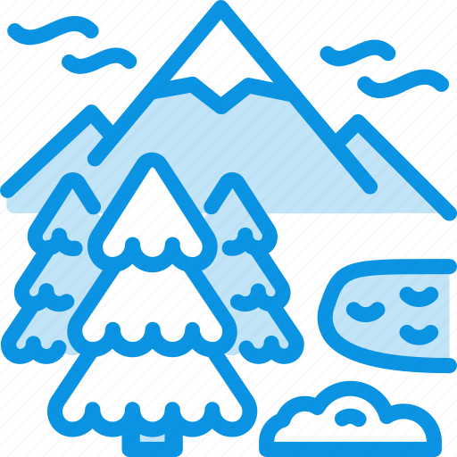 Lake, mountains, nature icon - Download on Iconfinder