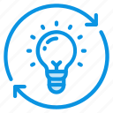 bulb, idea, light, process icon